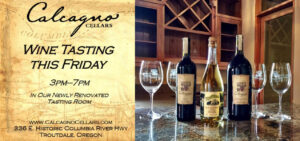 Calcagno Cellars wine tasting flyer (1)